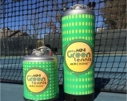30 and 60 Ball Capacity Mini Green Tennis Machine